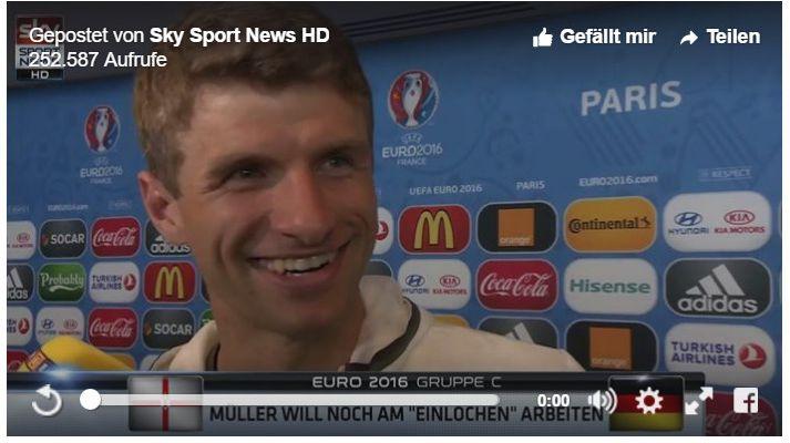 Thomas Müller Fussball für Golfer