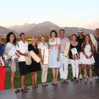 GV Liechtenstein Preisträger mit Bruttosiegerin Christine Tinner-Rampone