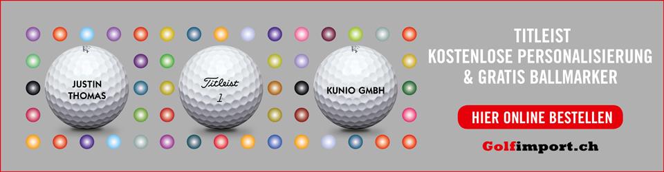 GolfImport Wideboard Titleist personalisierte Bälle