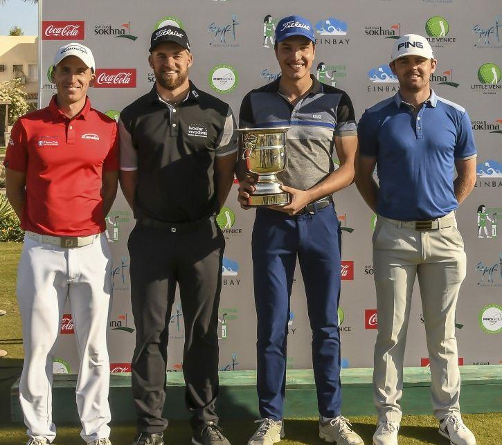 Luca Galliano, Mathias Eggenberger, Michael Hirmer, Liam Johnston @GolfsupportNL