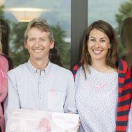 Gelebte Solidarität: Die LADIES-for-LADIES-Charity-Golftour 2018 startet am 5. Juni im Golf Club Rheinblick – mit im Teilnehmerfeld Olympiasiegerin und LADIES-for-LADIES-Botschafterin Dominique Gisin (2. von rechts.)