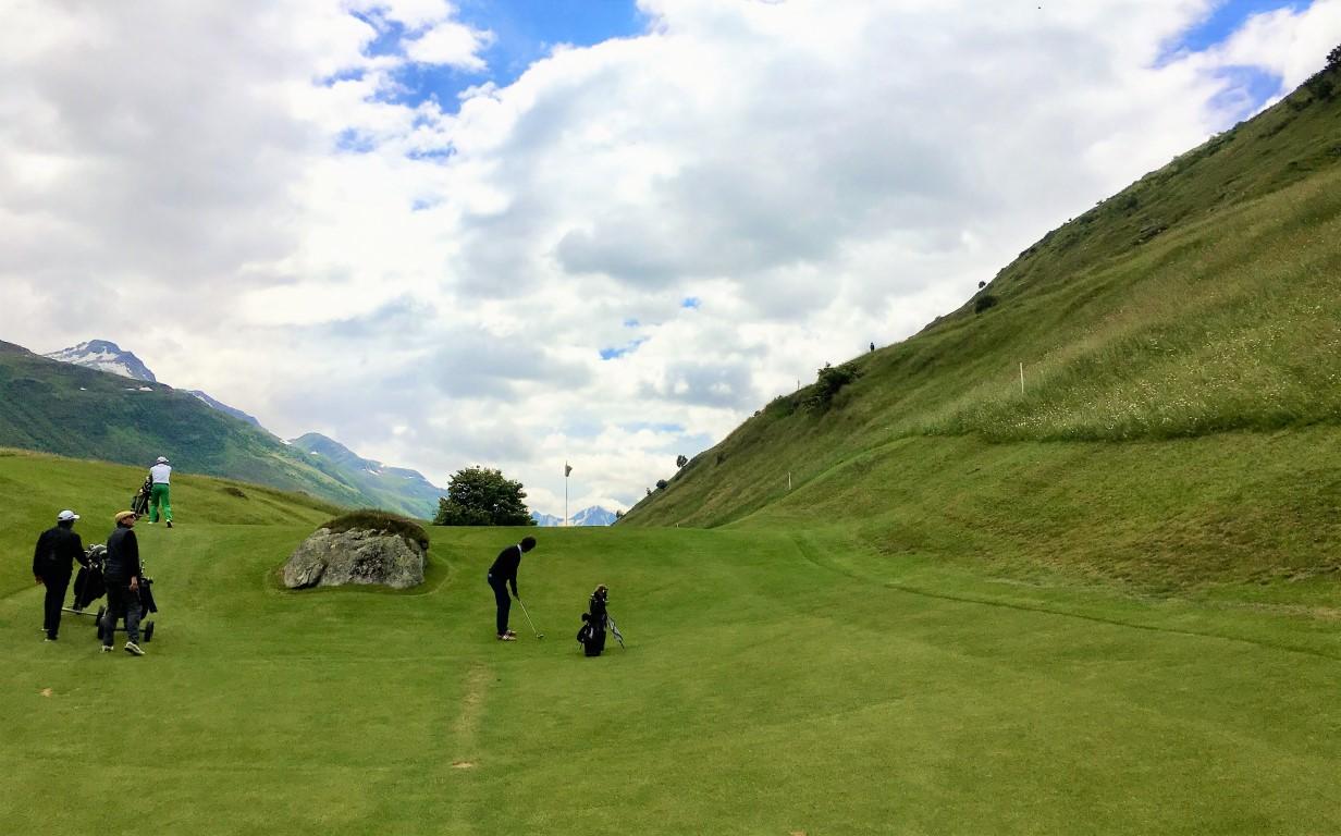 Golfplatz Andermatt Loch 3