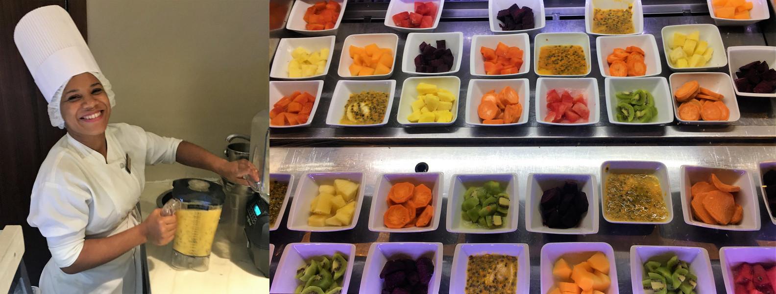 Secrets Cap Cana Resort & Spa - Die Qual der Wahl: wie möchten Sie Ihren Frühstücksaft?