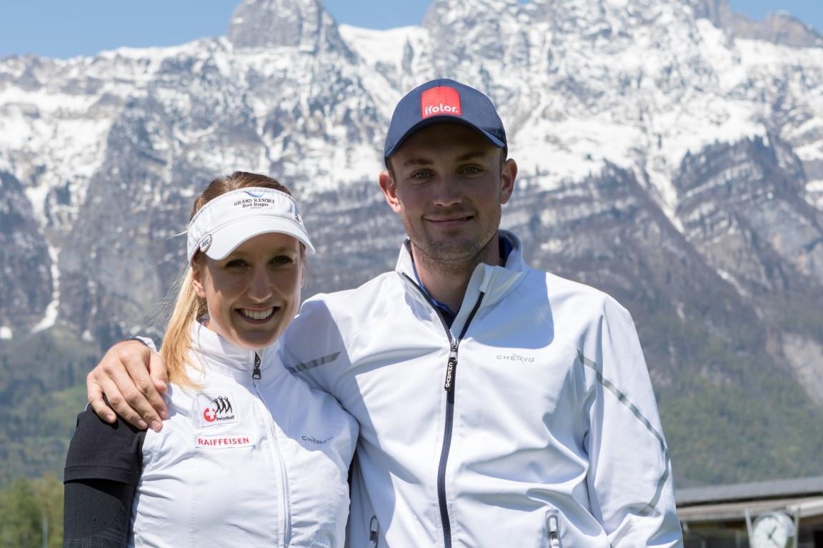 Joel Girrbach zu Besuch, mit Mirjam Mätzler vor der dritten Runde