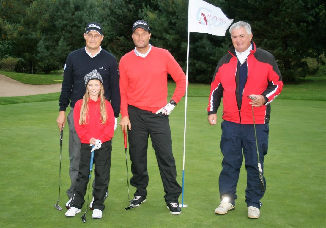A-Rosa Golf Trophy 2017 v.l.n.r._Ralf Drechsler, Lea Geiss zusammen mit ihren Mitspielern Thorsten Lentz und Wolfgang Gr