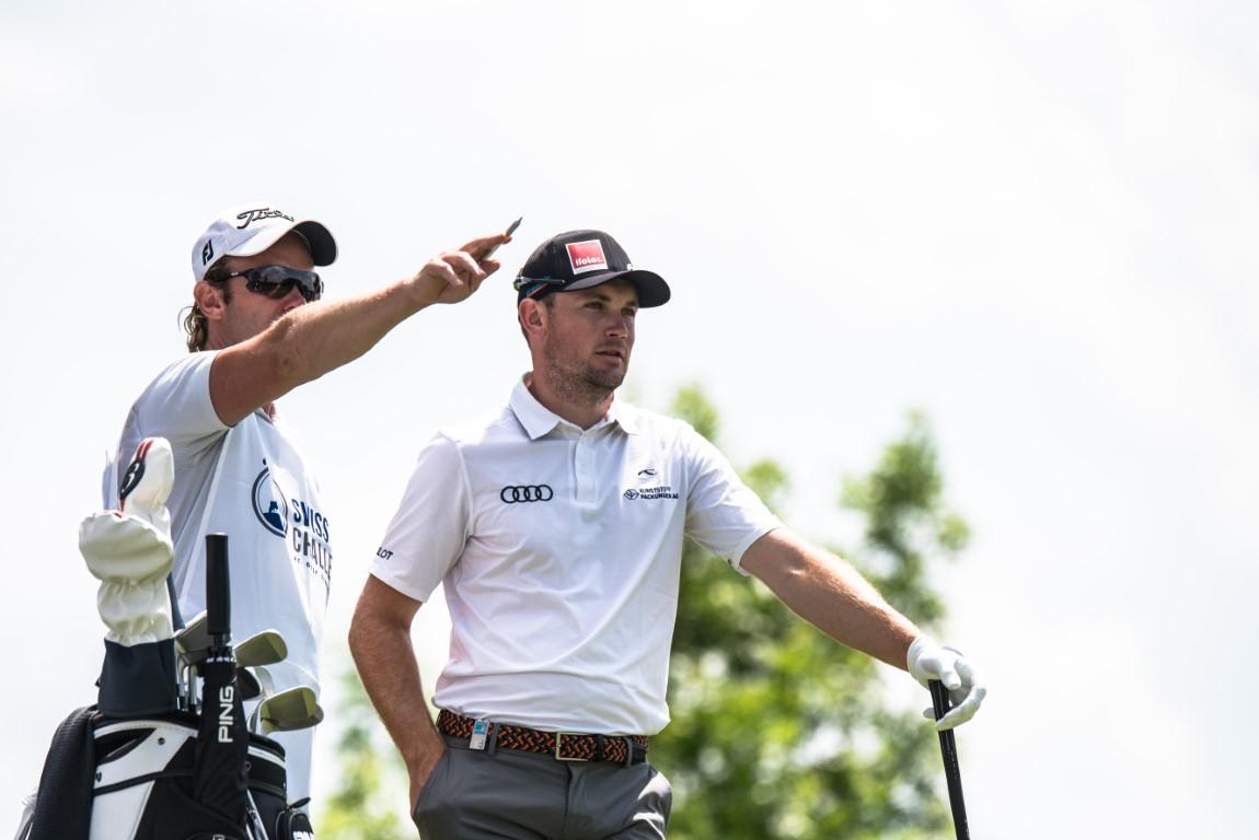Swiss Challenge - Schweizer Pros - Joel Girrbach mit Caddie