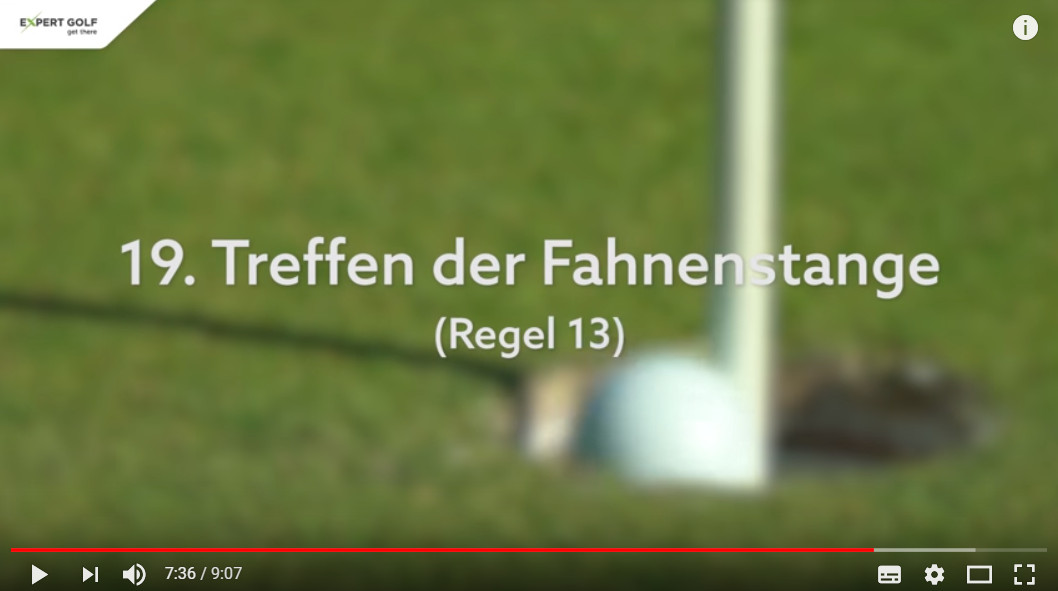 Neue Golfregeln 2019