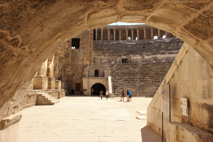 Aspendos Theater mit Bühnenhaus
