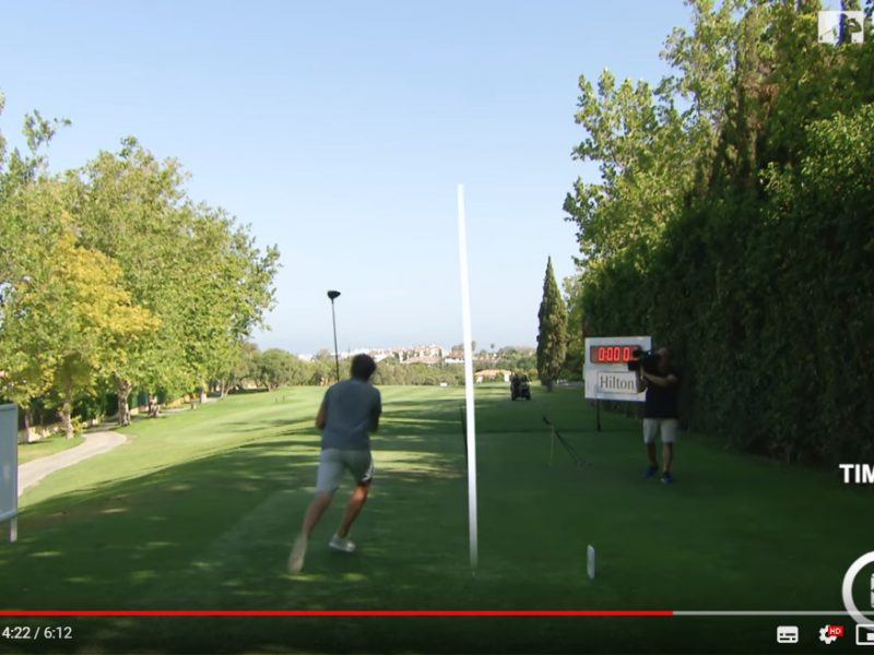 The fastest hole of golf