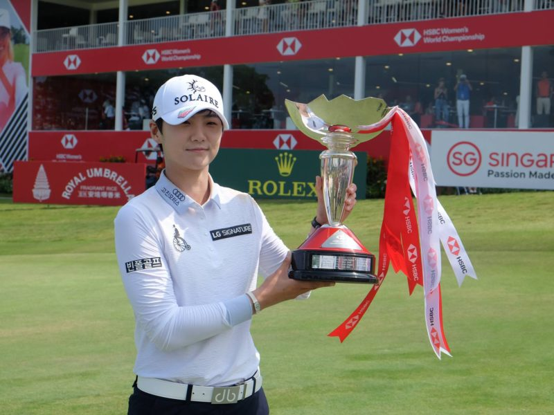 Sung Hyun Park, Winner of HSBC Women's World Championship 2019.