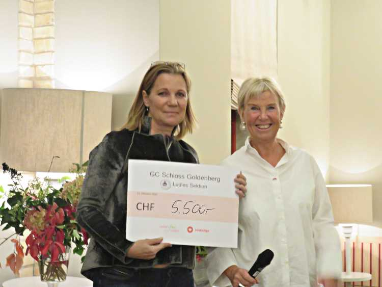 Links: Anne Caroline Skretteberg, LADIES for LADIES Rechts: Charlotte Bon, Ladies-Captain Golfclub Schloss Goldenberg