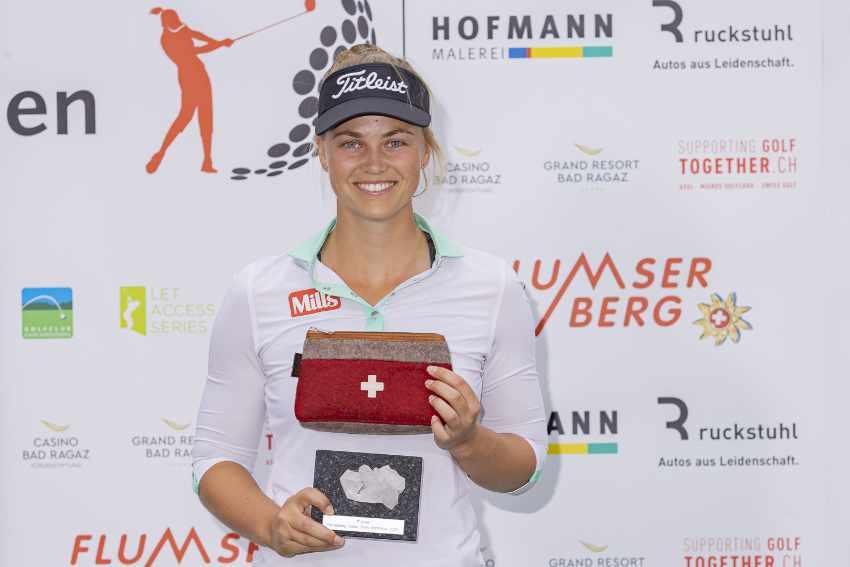 Sanna Nuutinen, Finnland, Siegerin des Flumserberg Ladies Opens 2020